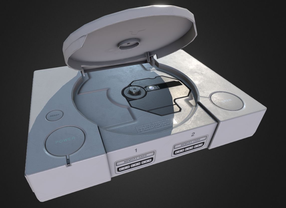 PlayStation 1 Console (open CD tray) | EmuVR on Patreon